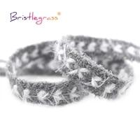 bristlegrass 1 yard 12 13mm glitter woolen braided crochet lace trims macrame chic ribbon pillow headband costume sewing craft