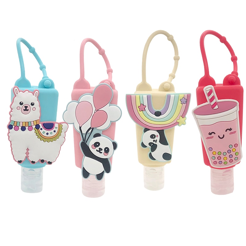 random color owl print coin can 1pc 30ml Panda Animal Silicone Hand Sanitizer Pocketable Shower Holder With Empty Bottle Color Random 1pc 2021New