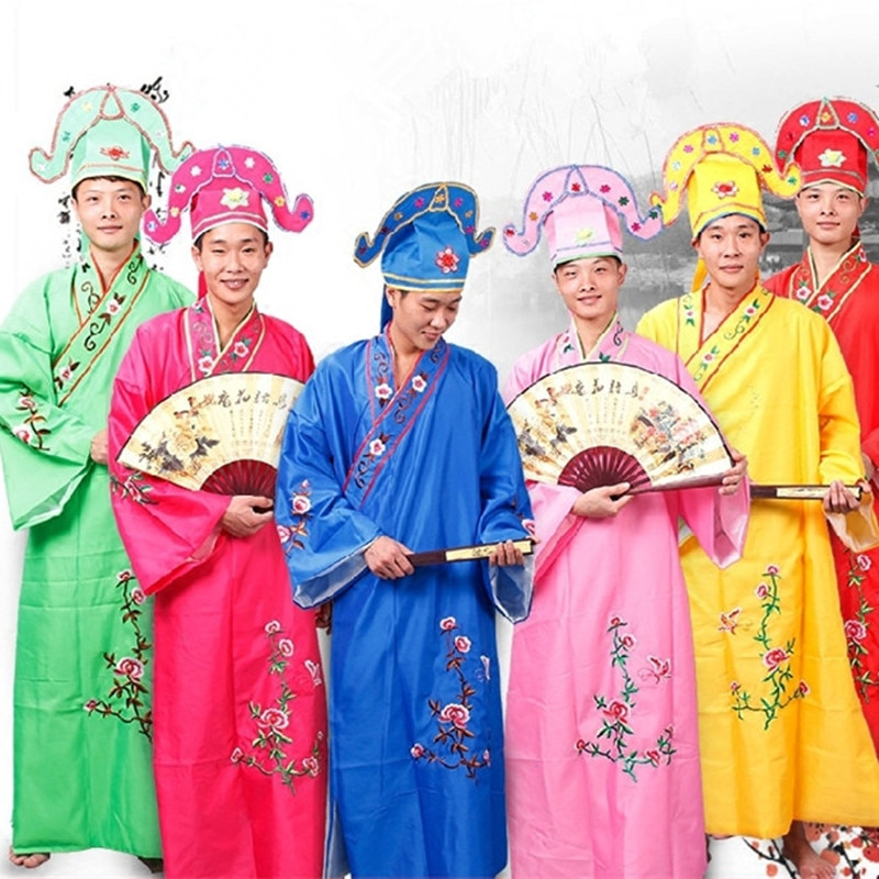6 colors chinese tang suit Tang Bohu cosplay ancient Gifted scholar costumes for men peking opera co