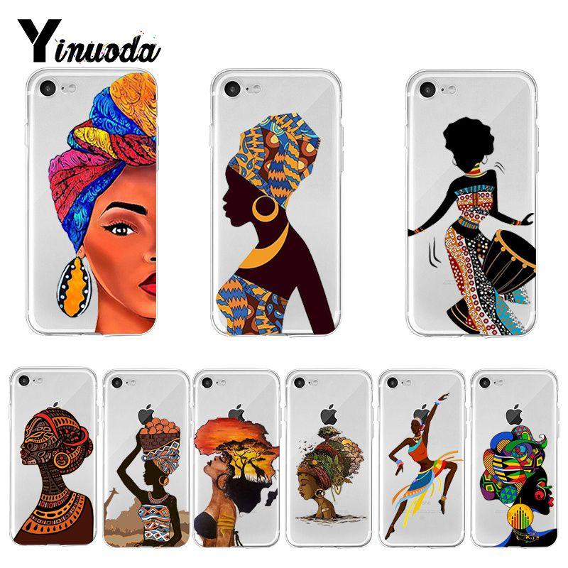 Yinuoda de dibujos animados Sudáfrica mujer mapa 2018 de dibujo de color de la caja del teléfono para iPhone 8 7 6 6S Plus X XS X MAX 5 5S SE XR 11 pro max