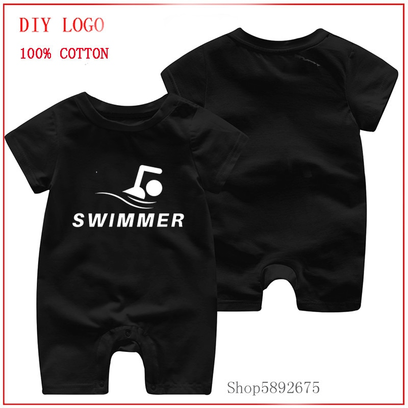 Pure Cotton Swimmer-Gifts for Swimming Coaches or Fans Who Love to Swim Baby Clothes Newborn Baby Ro