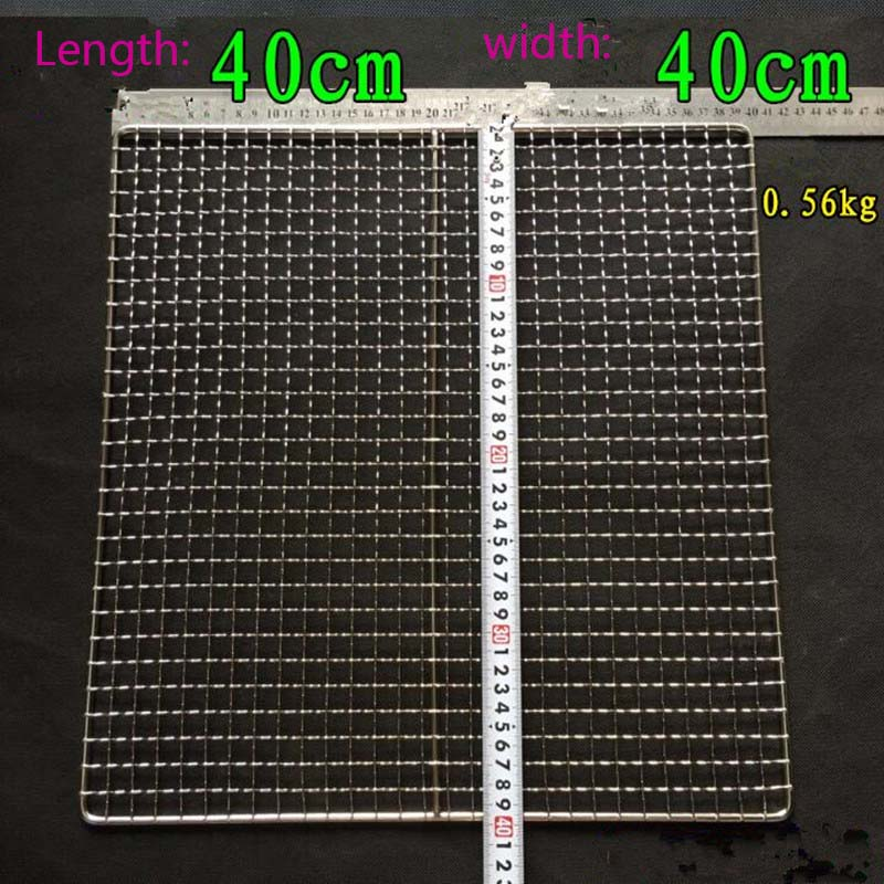 Купить с кэшбэком 2021 Newest!!! Korean Style Thicken 304 Stainless Steel BBQ Grilling Square Barbecue Wire Mesh Cooking Tool