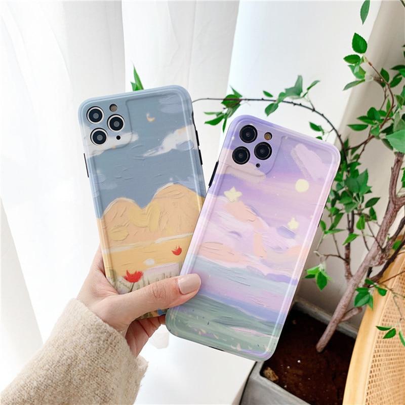Милый Летний чехол для телефона с рисунком цветов для iPhone 11 Pro XS Max XR X, мягкий чехол для iPhone 7 8 Plus