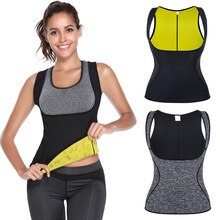 Women Body Shaper Sleeveless Fitness Corset Sport Gym Tank Top Women Yoga Shirts BodybuildingFat Burning Vest Running T Shirt