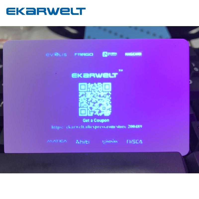 متوافق مع Magicard MA1000K-UV اللون الأزرق غير مرئية في 1000 طباعة تستخدم في طابعة بطاقة برو برو برو