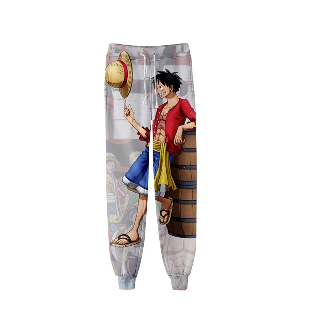 Anime uma peça 3d impressão joggers calças dos homens/mulheres engraçado dos desenhos animados moletom luffy roronoa zoro nami sanji nico robin cosplay calças