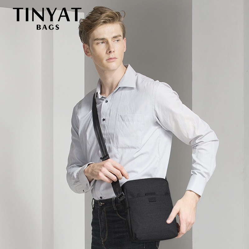 bagsmart waterproof black nylon gown garment bag for traveling with handle lightweight suit bag business men ravel bags for suit TINYAT Men's Bag Light Shoulder Bag For 7.9' Ipad Casual Crossbody Bags Waterproof Business Lightweight Shoulder bag for men