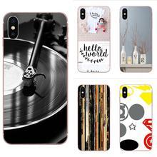 Doux Étui En Vinyle Pour Apple iPhone X XS Max XR 4 4S 5 5C 5S SE 6 6S 7 8 Plus