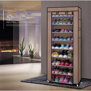 10 Layers Shoe Rack Detachable Dustproof Nonwoven Fabric Shoe Cabinet Home Standing Space-saving Stand Holder Shoes Organizer