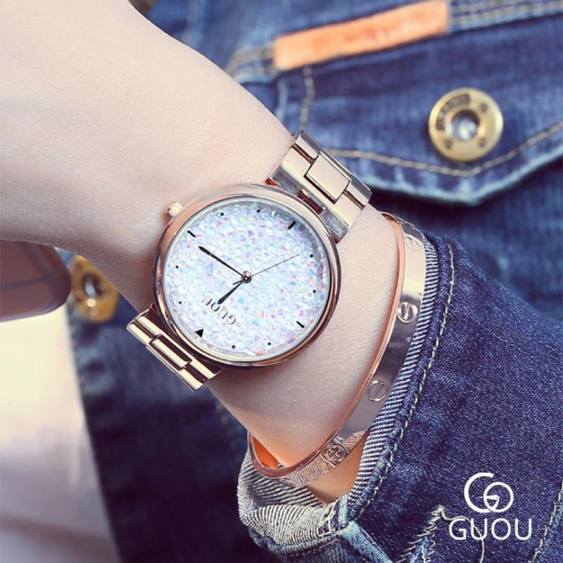 Zegarek Damsk relojes románticos de lujo para Mujer Reloj de pulsera de cuarzo de moda 2019 Reloj femenino informal Reloj de Mujer Bayan Kol Saati