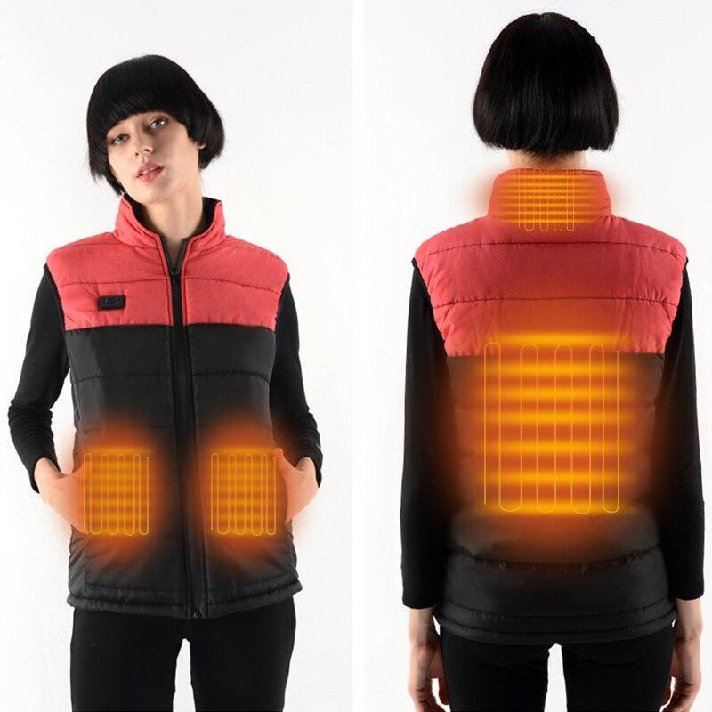 ZYNNEVA 2020, chaleco eléctrico calentado para senderismo, ropa de invierno para mujeres, ropa de calefacción, Color de costura, chaqueta cálida de fibra de carbono para hombres GC1153