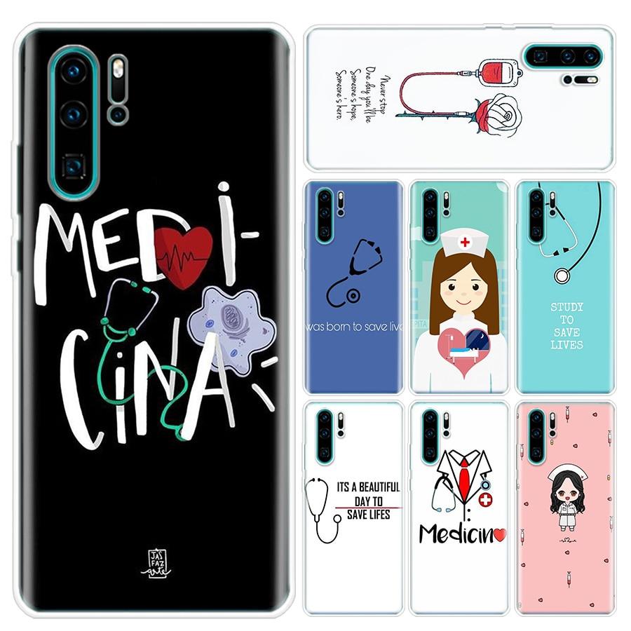 Enfermera médico Medicina salud cliente funda del teléfono para Huawei P10 P20 P30 P20Pro P30Lite P30Pro P Smart Z Mate 10 20 10Pro