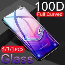 5/3/1Pcs schutzhülle telefon für samsung galaxy S20 ultra S10 5G lite S10E S9 S8 plus S7 rand gehärtetem glas screen protector film