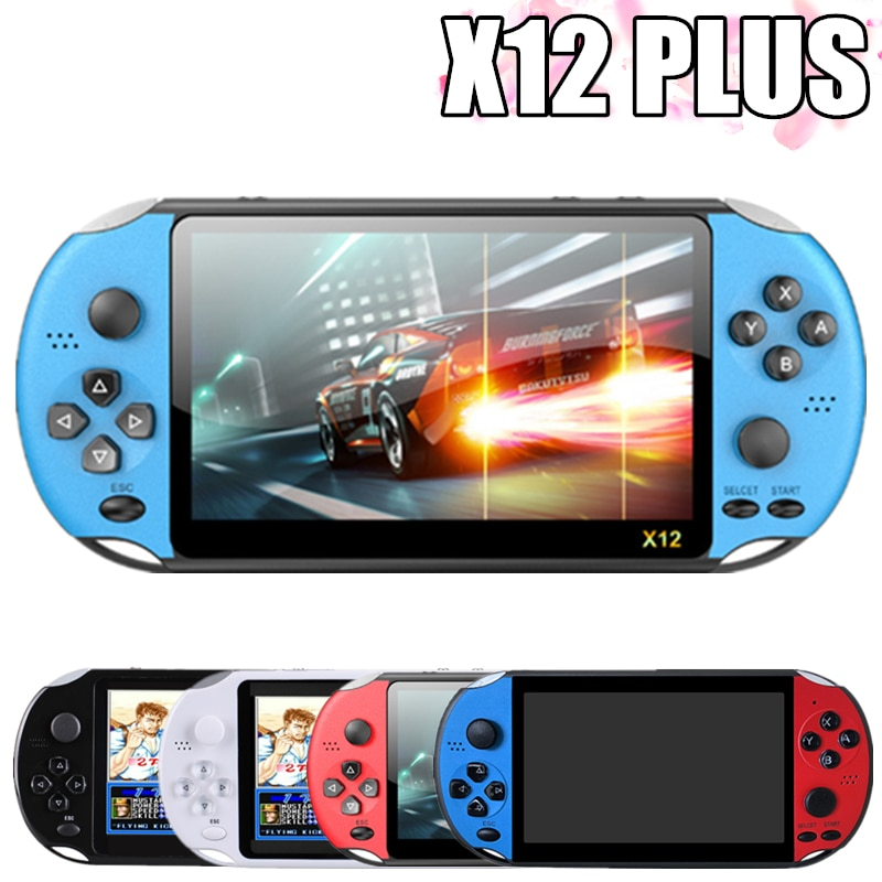 New X12 PLUS Retro Game Handheld Game Console Built-in 2000+Classic Games Portable Mini Video Player 7.1 inch IPS Screen 8G+32G