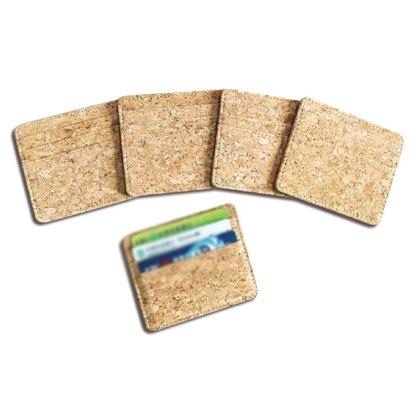 Creative Wood Grain Card Cover Leather Credit Card Case Mini ID Card Holder Environmental Men's Business Card Set Wallet Case