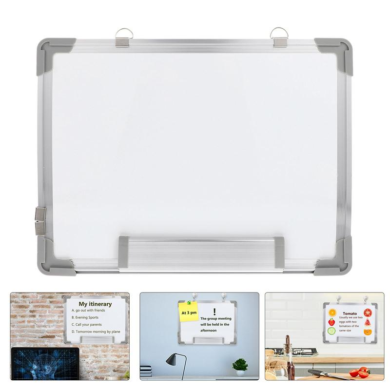 1/2pcs 40x30cm Magnetic Portable Dry Erase White Board Hanging Double-sided Whiteboard