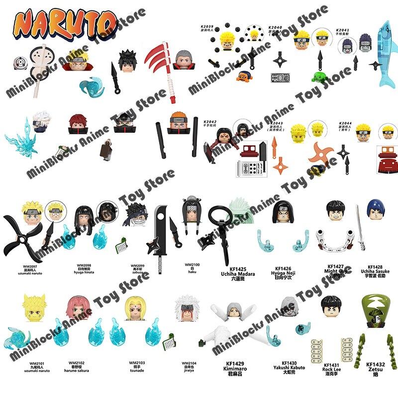 Поштучная распродажа, конструктор «Наруто», аниме Мультяшные японские персонажи, мини-фигурки героев, головки, детские игрушки, подарки на ...