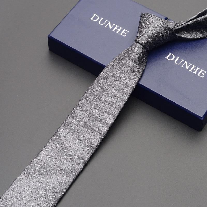 High Quality 2019 New Fashion Silk Wedding Ties for Men Tie slim 6cm Necktie Designers Brand Red Coffee Neck Tie with Gift Box