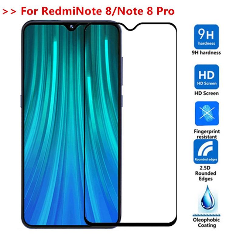 Vidrio templado para redmi note 8 note 8pro xiomi redmi note 8 pro cubierta completa vidrio protector de pantalla redmi note 8