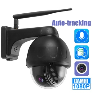 Outdoor Waterproof Surveillance Wifi IP Camera Video Recording Voice Intercom With Automatic Tracking SD Flash Card Slot CamHi