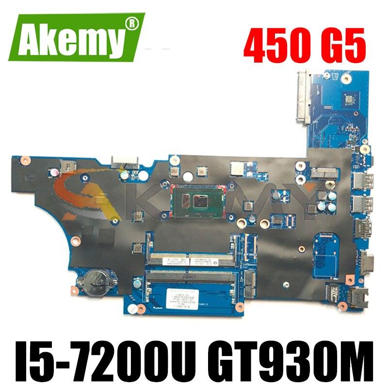 Akemy ل HP ل Probook 450 G5 اللوحة المحمول DA0X8CMB6E0 L12612-001 اللوحة i5-7200U GT930M GPU اختبار موافق سريع السفينة