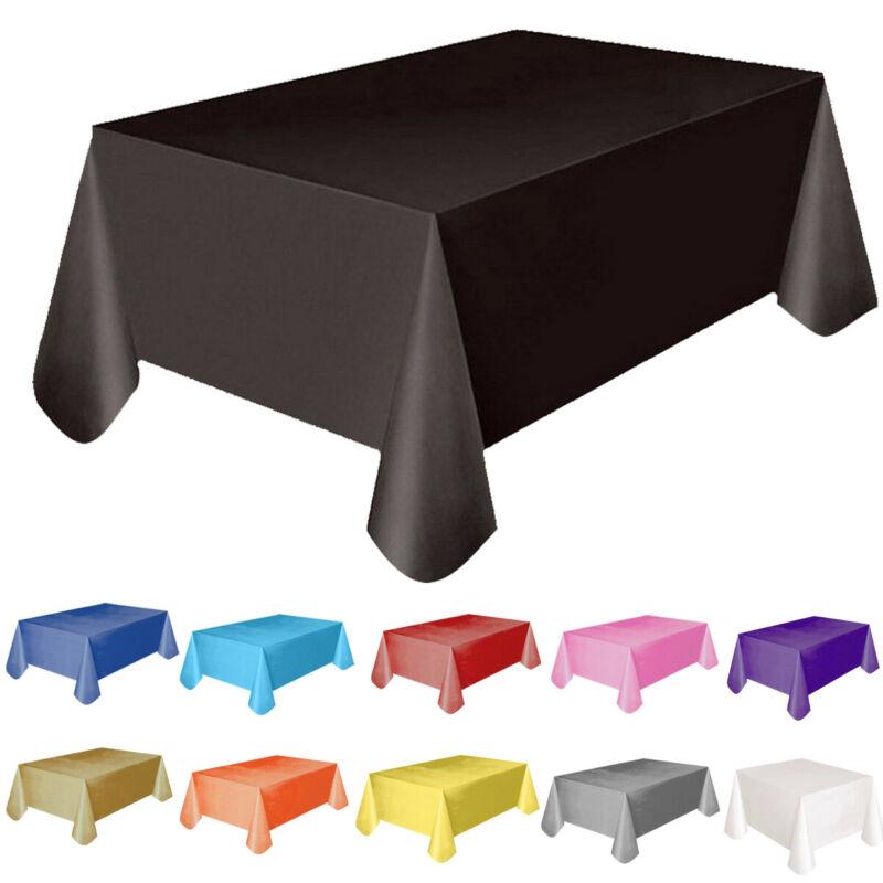 1 mantel de plástico para el hogar, mantel rectangular sólido moderno de 137x183CM, mantel de mesa para Banquete de Hotel para fiesta de boda