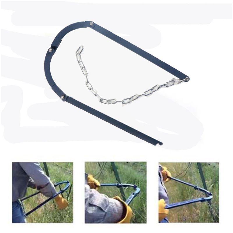 Colador de cerca de cadena, parche Manual, fijador eléctrico de cerca, estirador, Kit de jardín para el hogar