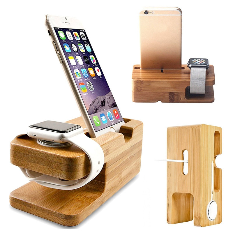 Wooden Charging Dock Stand Station Charger Holder For Apple Watch iWatch Smart Watch Desktop Chargin