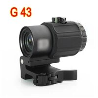 magorui new tactical g43 3x magnifier scope sight with switch to side sts qd mount fit for 20mm rail rifle gun