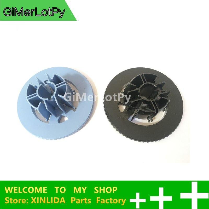 GiMerLotPy Compatible nuevo C7769-40153 + 7769-60401 eje hub para DesignJet 110, 120, 130, 500, 510, 800 (negro + azul) 1 set de 2