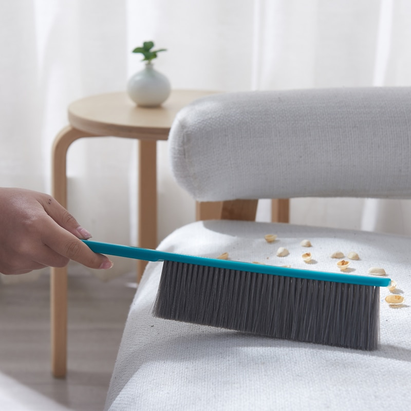 Long handle broom brush soft fur dust removal bed brush sheet cleaning small broom brush 38*7.5*2.3cm enlarge