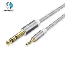 3,5mm zu 6,35mm Jack Adapter Gold Überzogen Aux Kabel 1m 2m 3m für iPod Geräte verstärker 3,5 Klinke auf 6,5 Klinke Stecker Audio Kabel