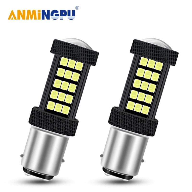 ANMINGPU 2X Signal Lamp Bay15d 1157 Led P21/5W 2835SMD P21W 1156 Ba15s PY21W Bau15s Led Brake Lights Reverse Lights Backup Light