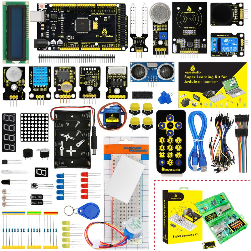 Updated Version Keyestudio Super Starter Kit With Mega2560R3 Board(USB serial Chip is CP2102)For Arduino Starter Kit +Tutorial