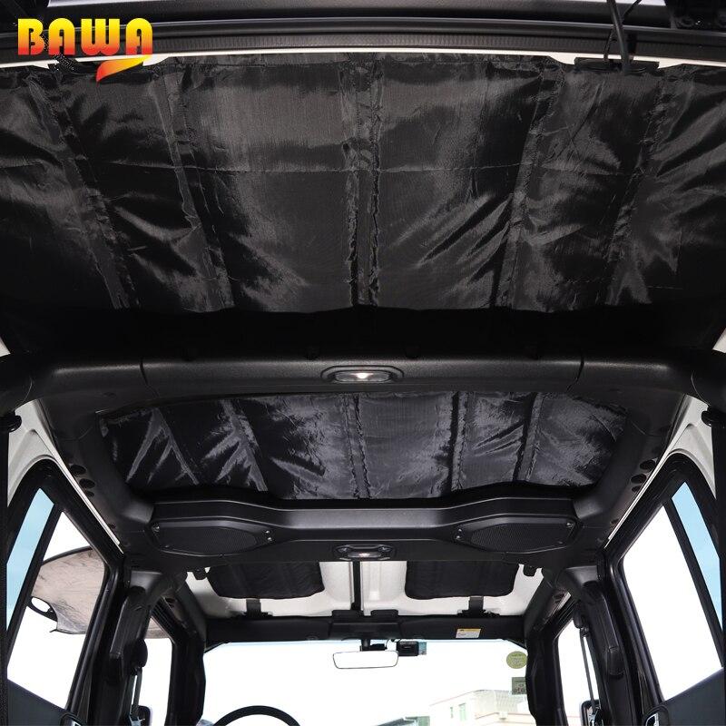 BAWA Headliner Roof Heat Insulation Cotton Kits Sound Deadener Cover for 4-Door Jeep Wrangler JL 2018-2021 enlarge