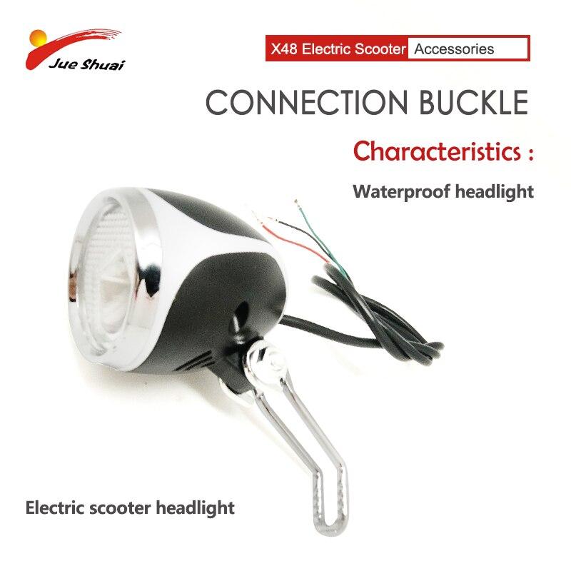 Faro de bicicleta resistente al agua para Patinete eléctrico X48, luz plateada...