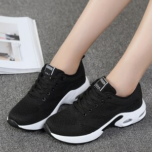 Ladies Sneakers Spring Hida Air Cushion Sports Shoes Super Light Running Shoes Casual Shoes Fitness Shoes  Brand Shoes Women 42