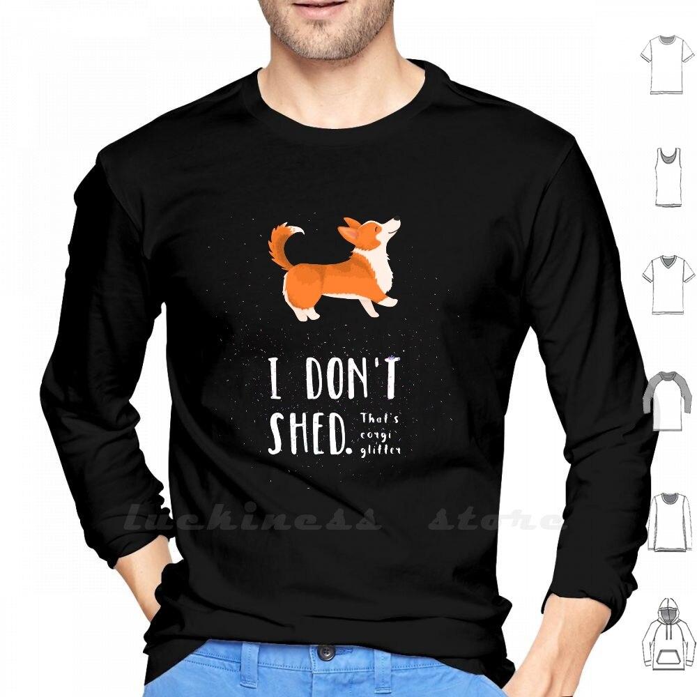 Corgi glitter (pembroke welsh corgi) manga longa t camisa corgi cão glitter mágico arco-íris unicórnio cão pai cão accessoires