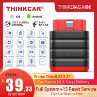Автомобильный диагностический сканер Thinkcar Thinkdiag Mini OBD2, инструмент для диагностики автомобиля OBD 2 IOS, считыватель кодов для полной системы OBD,...