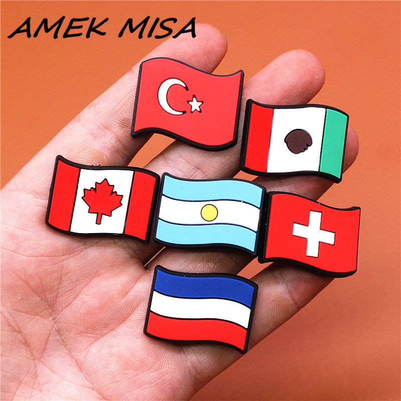 FreeShipping Crock Charms Accessories PVC Shoe Croc Buttons Sandals Charm Decoration Turkey Mexico L