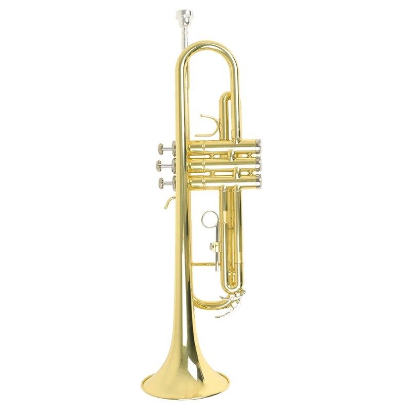 Trompeta de calidad superior Bb B trompeta de latón plana duradera con boquilla