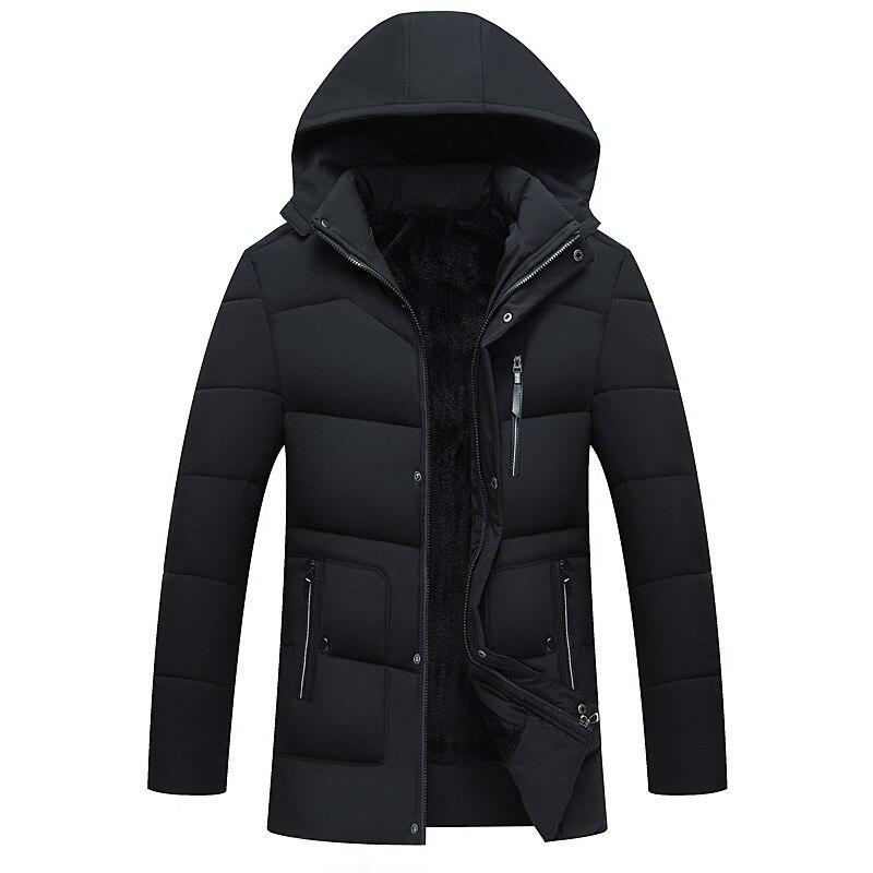 Мужское пальто с бархатной подкладкой, Мужская зимняя пуховая куртка с хлопковой подкладкой, мужские парки, мужское зимнее пальто с капюшон...