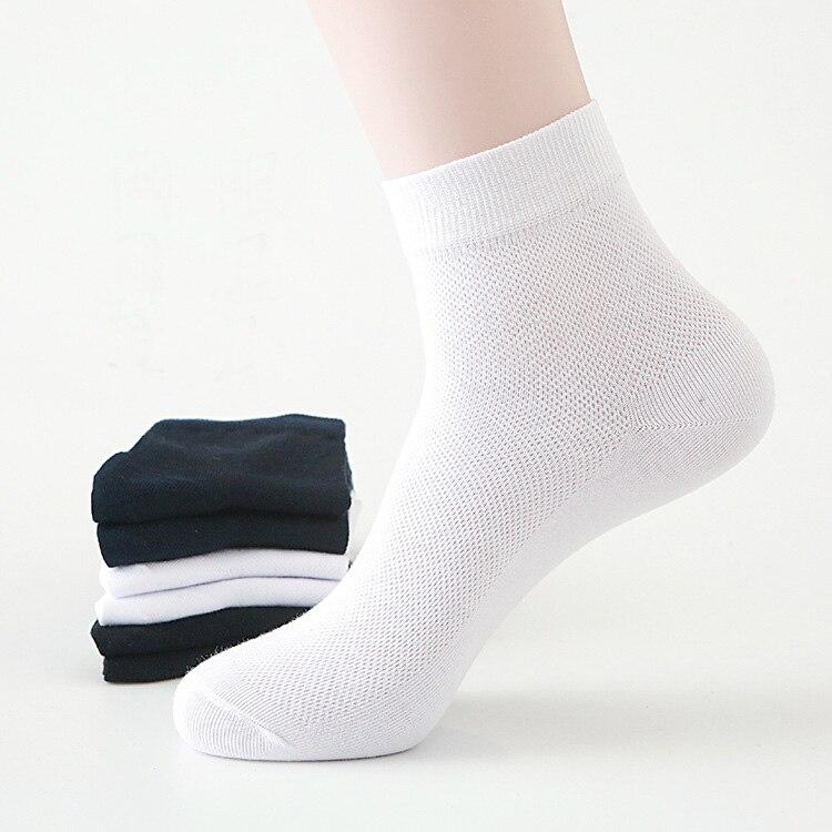 Мужские летние тонкие бриджи, мужские черные, серые, белые носки, 10 пар, высококачественные хлопковые дышащие Бриджи средней длины