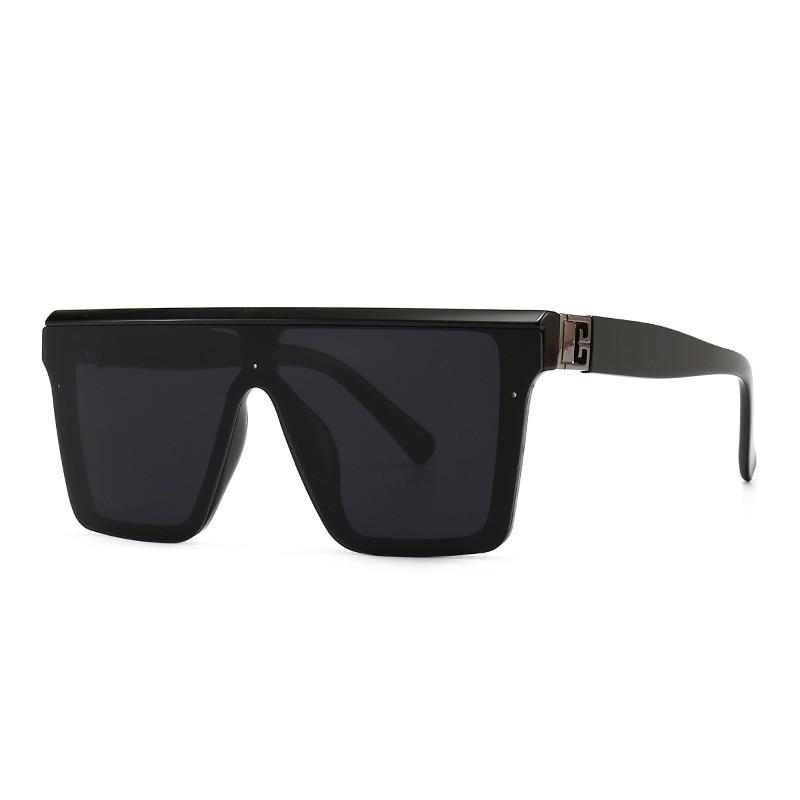 Vintage Luxury Designer Brand Fashion Oversized Square Sunglasses Women Men Trendy Big Frame Flat To