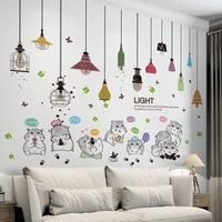 hamsters animals wall stickers diy chandeliers lights mural decals for baby bedroom kids rooms children nursery home decoration