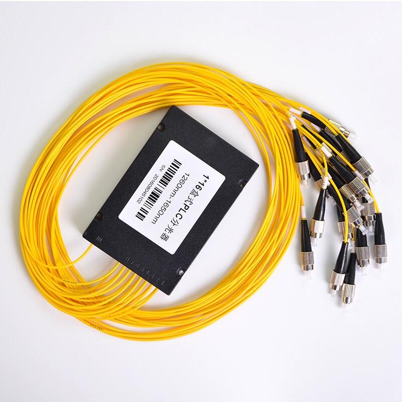 فاصل الألياف البصرية FC /UPC 1x16 ، صندوق الفاصل البصري PLC أحادي الوضع ، FTTH FC 1x16 PLC ABS