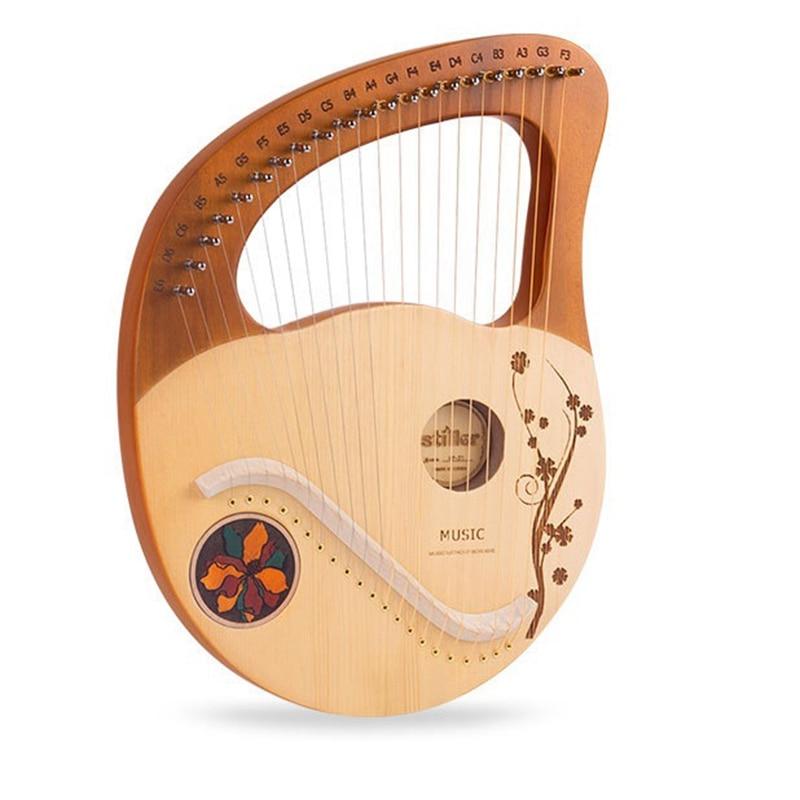 Lyre Harp ، 21 سلاسل معدنية خشبية القيثارة ليري القيثارة أداة الوتر مع ضبط وجع لمحبي الموسيقى المبتدئين ، الخ