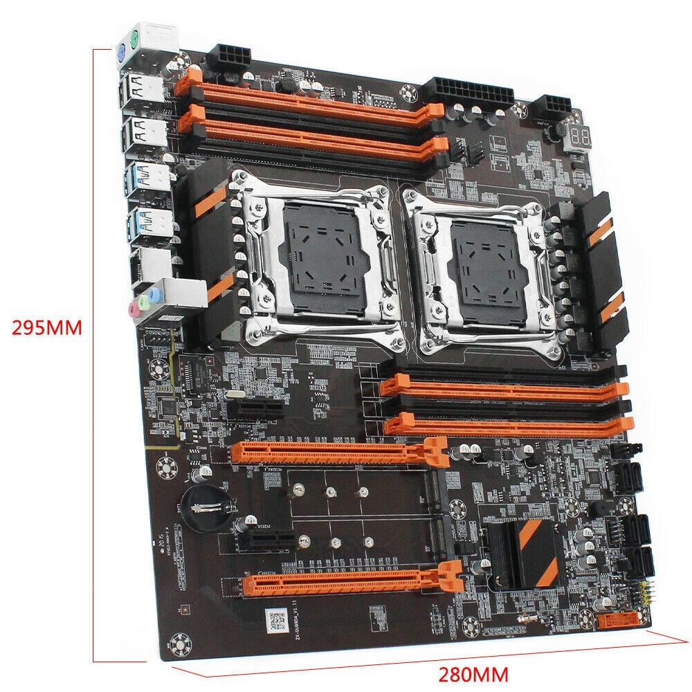 X99 Dual CPU Motherboard LGA 2011-V3USB3.0 SATA3 Processor With Dual M.2 Slot 8 DIMM DDR4  Dual Server Computer Motherboard
