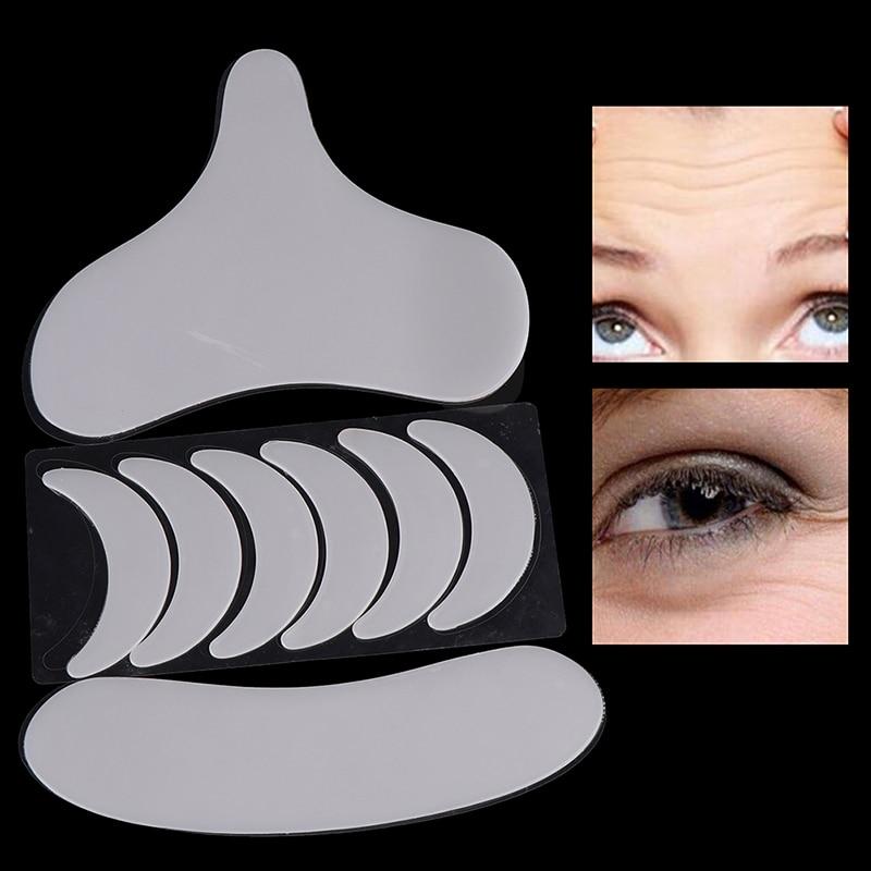 Transparent Anti Falten Neck Pad Silikon Hals Brust Falten Entferner Pads Neck Auge Gesicht Haut Lift Anti Aging Behandlung Pad