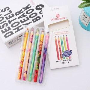 Rainbow Pencil One Stroke Multi-color Gradient Color Pencil Creative Gift Graffiti DIY Supplies Colorful Pencils